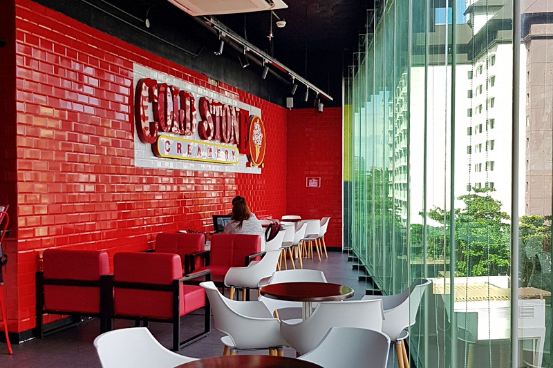 inside cold stone cebu ayala