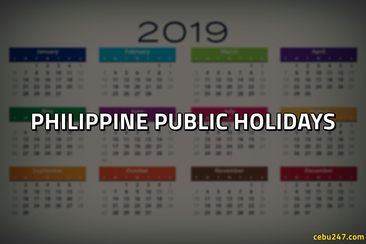 list of philippine public holidays 2019