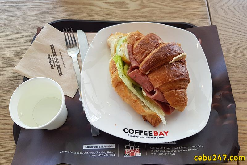 croissant at coffee bay cebu it park