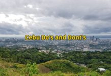 cebu do's and dont's