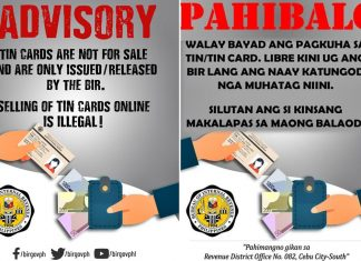 advisory bir fake TIN cards